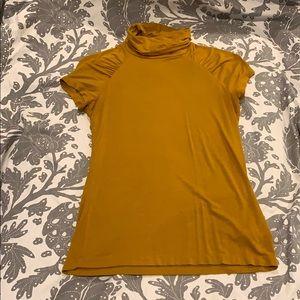 New York & Company Short Sleeve Turtle Neck